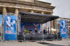 Kündigt Ramstein, Bühne am Brandenburger Tor, Berlin