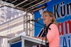 Jenny Friedheim auf der Friedensdemo