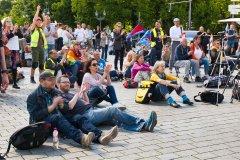 Friedensdemo vor dem Brandenburger Tor