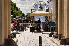 Siegessäule vom Brandenburger Tor aus gesehen