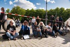 Bei der Friedensdemo in Berlin