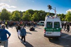 Tiergarten-Demo, Polizei