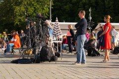 Medienvertreter bei Kündigt Ramstein in Berlin